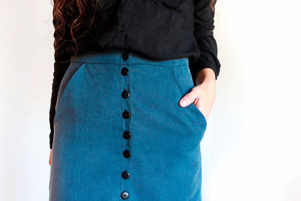 falda con bolsillos