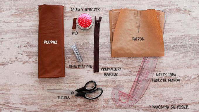 materiales hacer falda polipiel